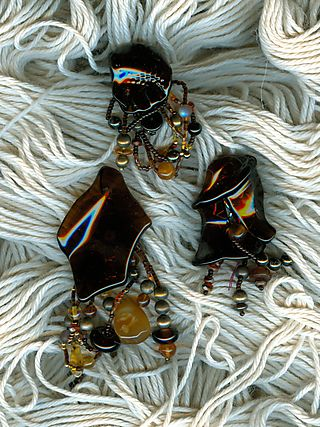 Kahlua Recycle Glass Made into Jewelry