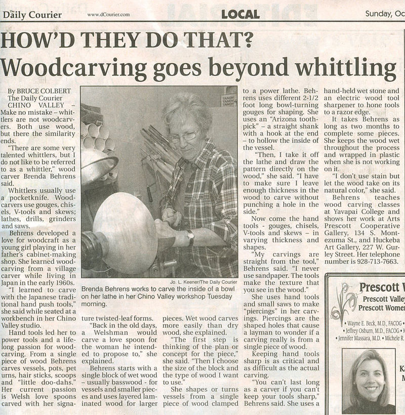 Daily Courier Article
