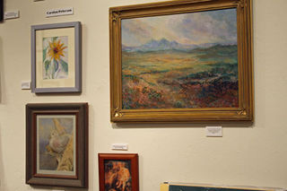 Carolyn Peterson Wall of Paintings