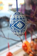 Blue and White Easter Egg