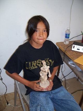 Hopi wood carving