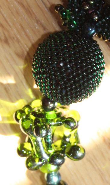Merlot lampwork and Off Loom Bead Weaving