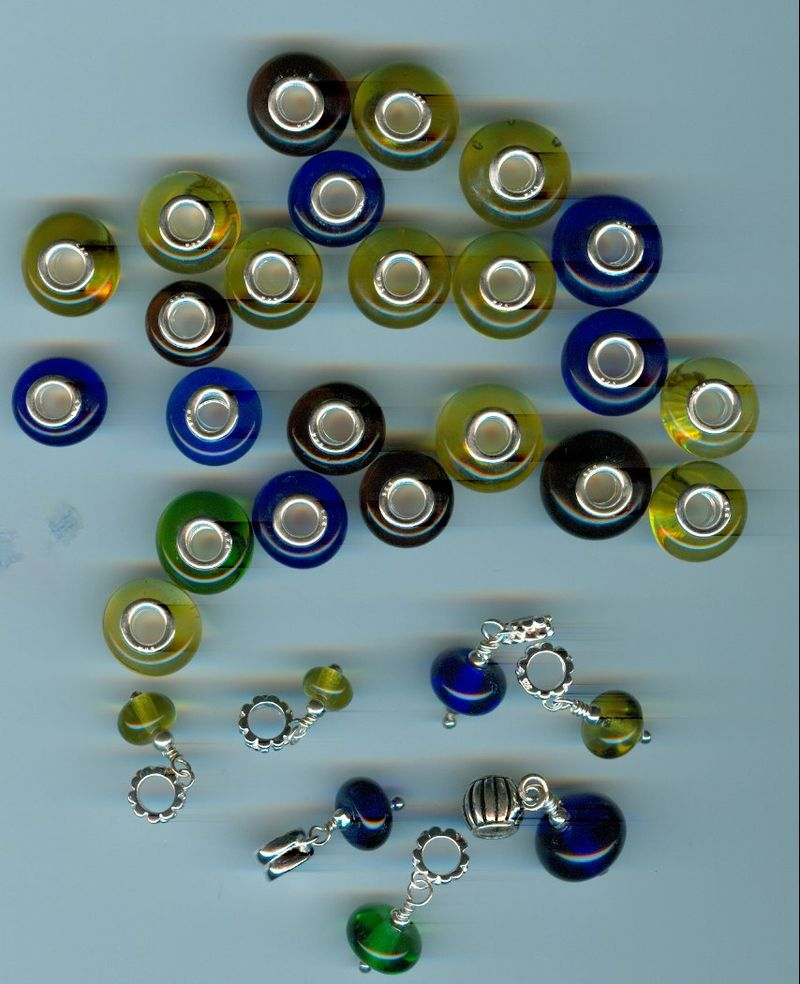 Wine bottle beads