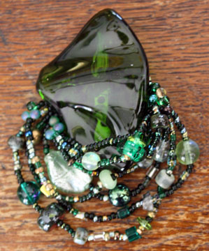 Merlot Recycled Glass Brooch
