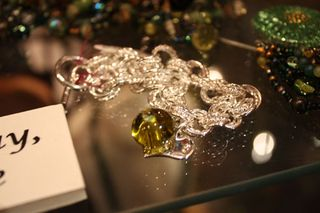 Sterling Silver Bracelet - Chardonnay Recycled Glass