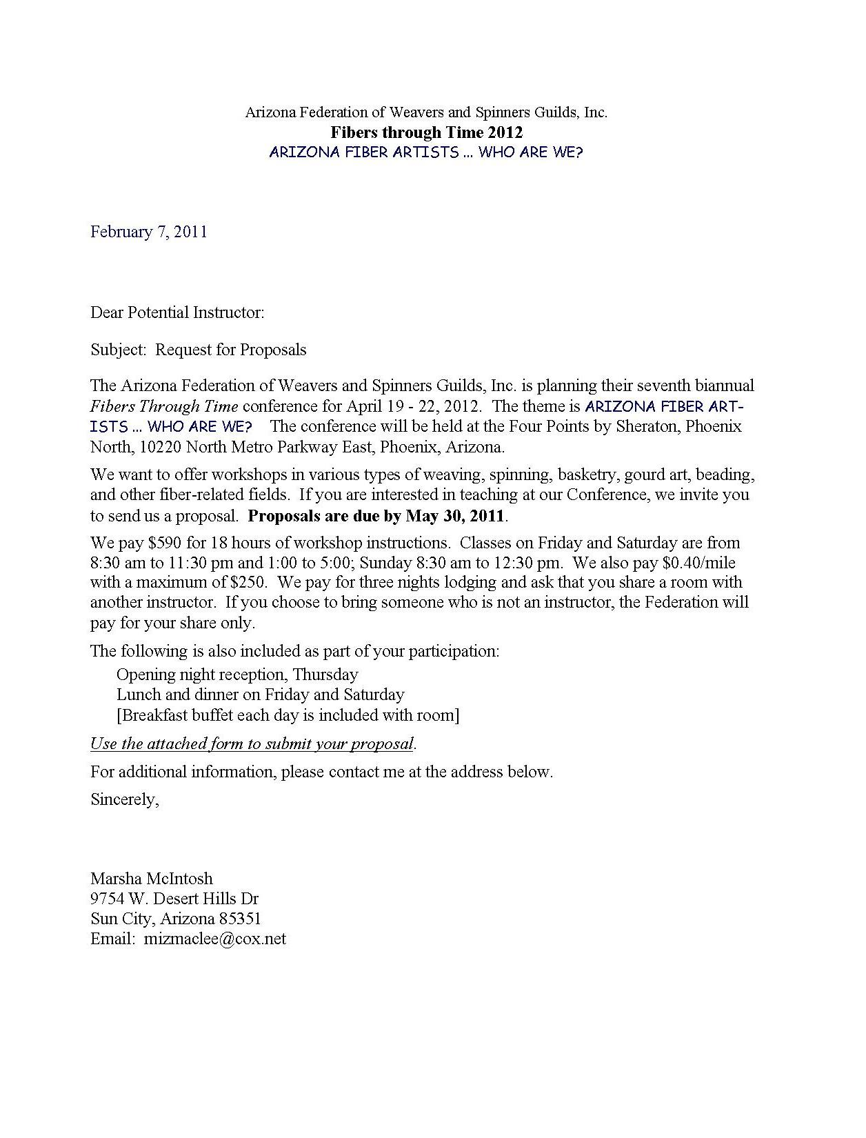 Letter Requesting Proposal 2011 Amazing Pictures