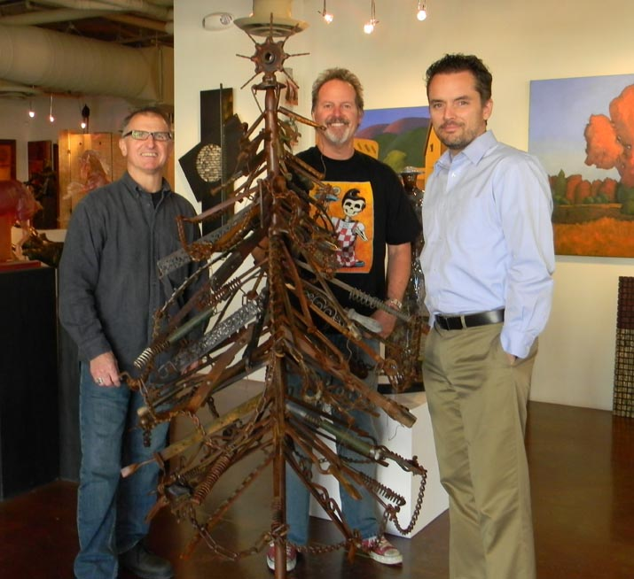 Newman Christmas Trees.Local Artists Dave Newman And Larry Peterson Welded Eight