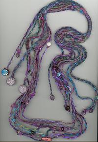 Handspun_soy_silk_and_beads